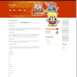 Narutux Blogger Template