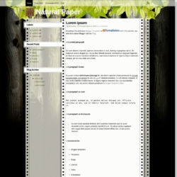 Natural Paper Blogger Template