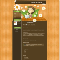 Nature Gift Blogger Template