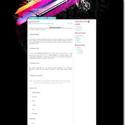 Neon Stripes Blogger Template