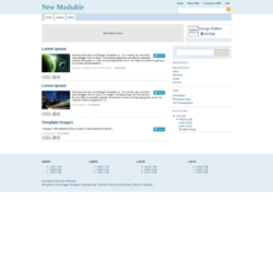 New Mashable Blogger Template