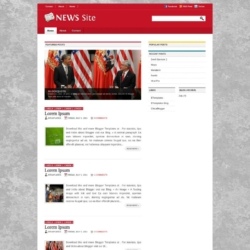NewsSite Blogger Template