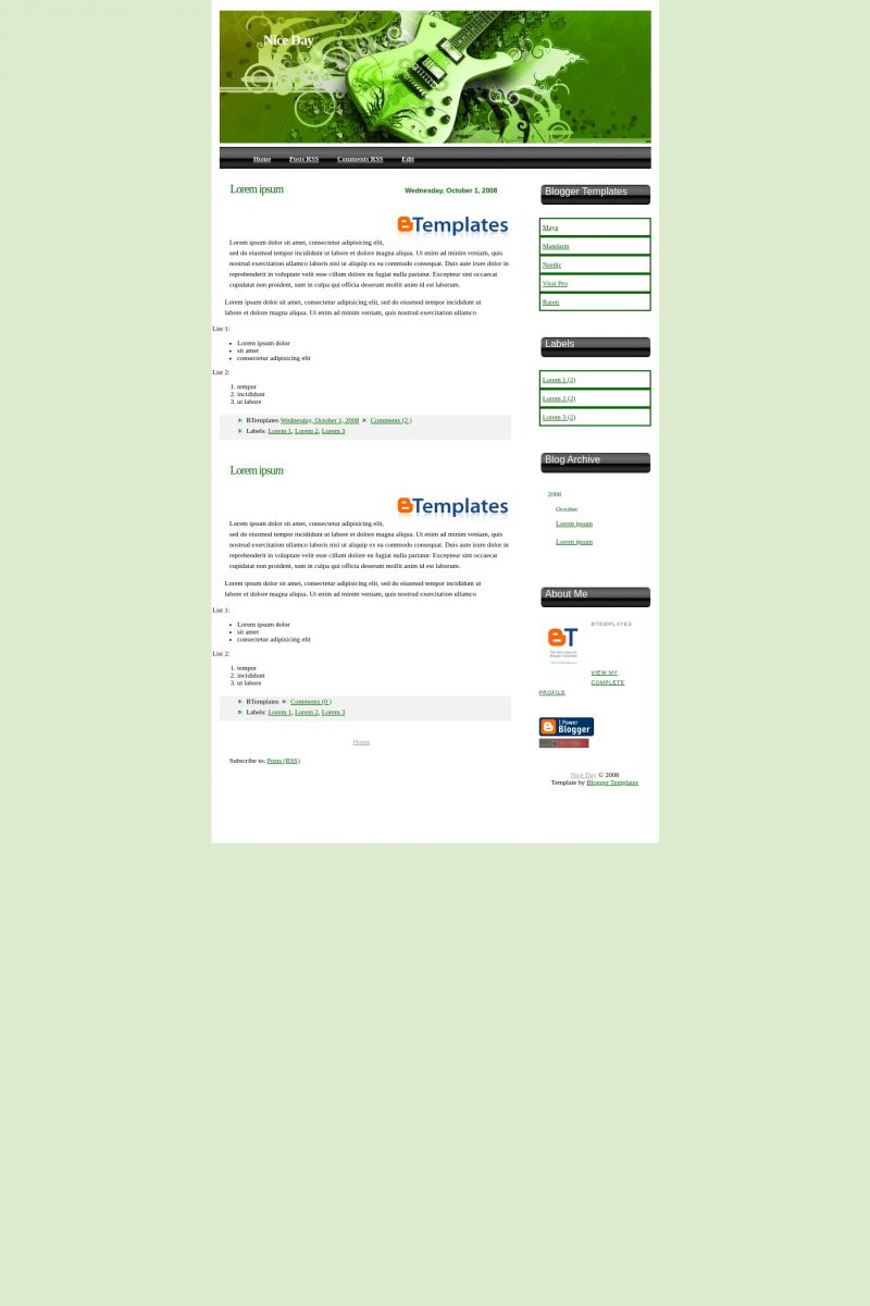 Download Nice Day Blogger Template