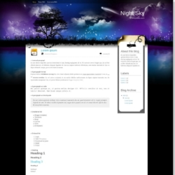 Night Sky Blogger Template