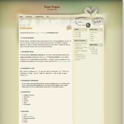 Note Paper Blogger Template