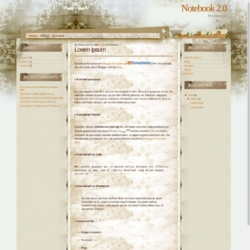 Notebook 2.0 Blogger Template