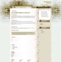 Notebook Blogger Template