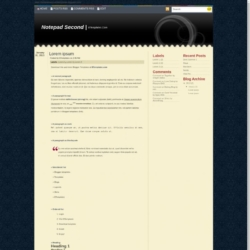 Notepad Second Blogger Template