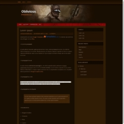 Oblivious Blogger Template
