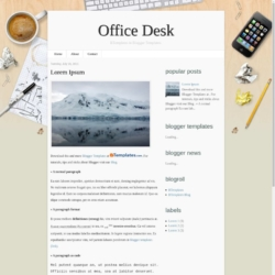 Office Desk Blogger Template