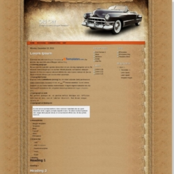 Old Car Blogger Template