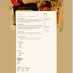 Old Magazine Blogger Template