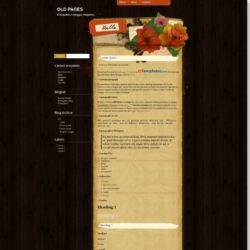 Old Pages Blogger Template