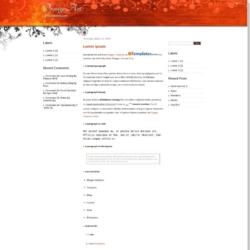 Orange Art Blogger Template