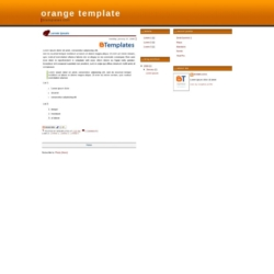Orange Blogger Template