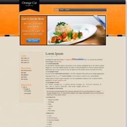 Orange Cut Blogger Template