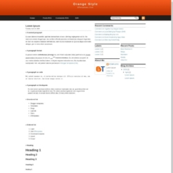 Orange Style Blogger Template
