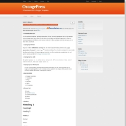 OrangePress Blogger Template