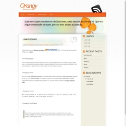 Orangy Blogger Template