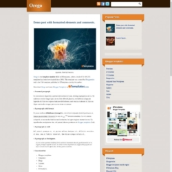 Orego Blogger Template