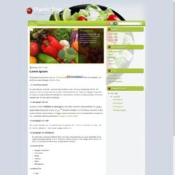 Organic Food Blogger Template