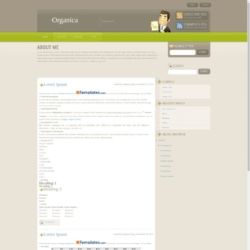 Organica Blogger Template
