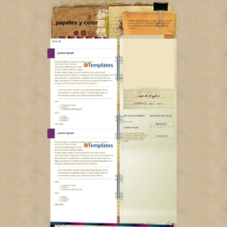 Papeles y color Blogger Template