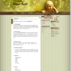 Paper Craft Blogger Template