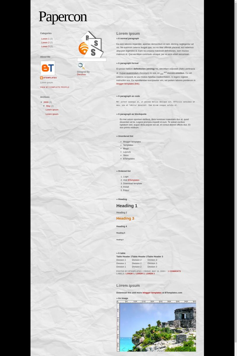 Download Papercon Blogger Template