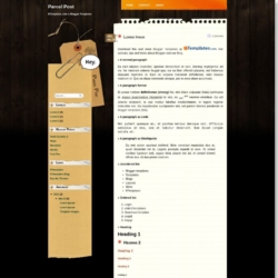 Parcel Post Blogger Template