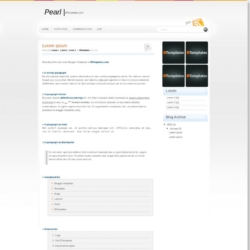 Pearl Blogger Template