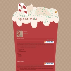 Peppermint Mocha Blogger Template