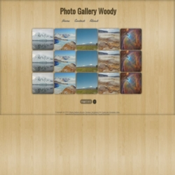Photo Gallery Woody Blogger Template