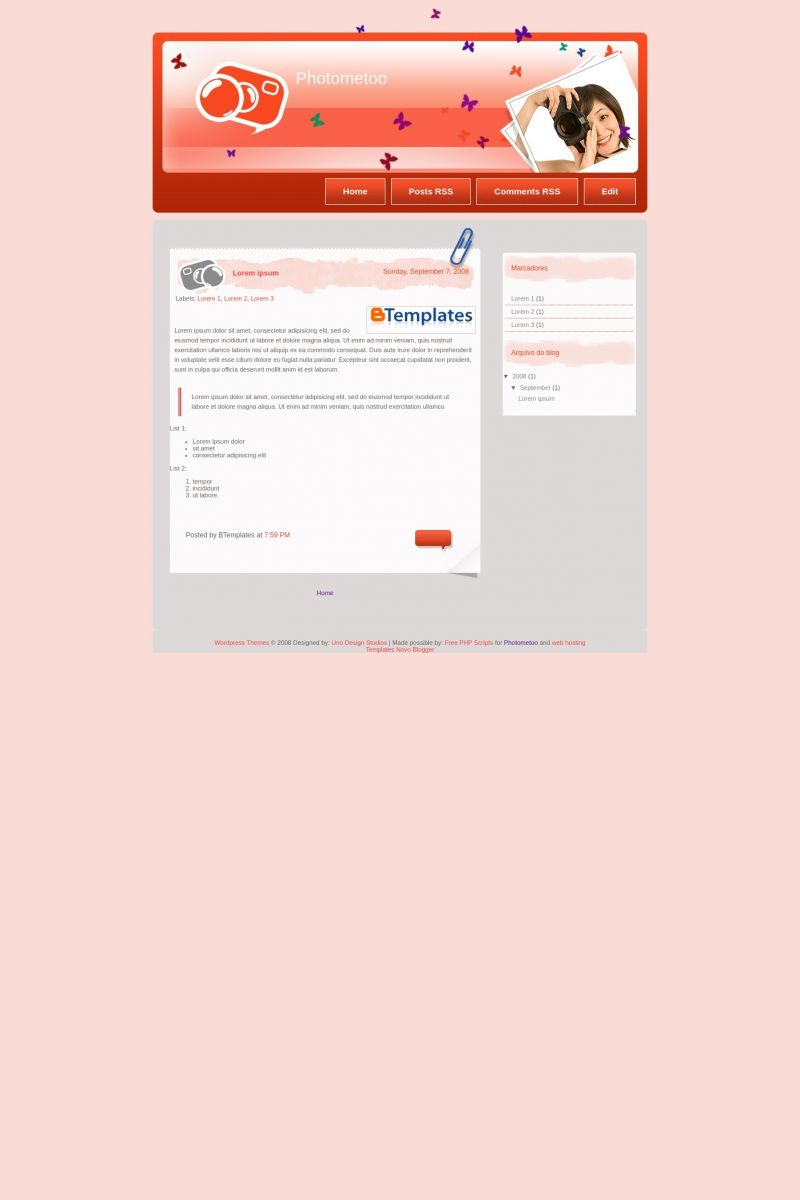 Download Photometoo Blogger Template