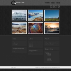 Picfotoplate Blogger Template