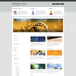 Picture Line Blogger Template