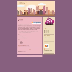 Pink City Blogger Template