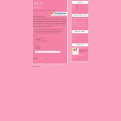 Pink Diva Blogger Template