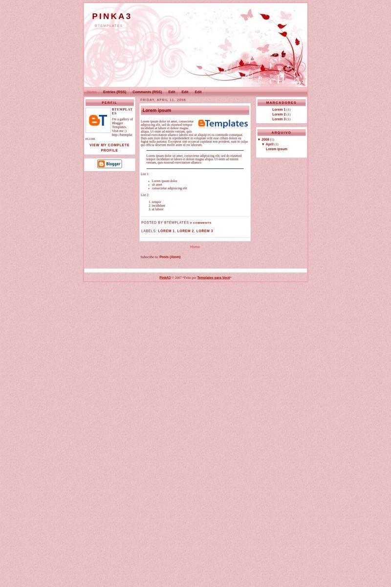 Download PinkA3 Blogger Template