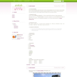 Pinkish Blogger Template