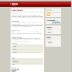 Pixious Blogger Template