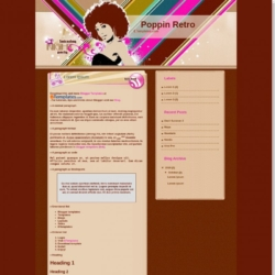 Poppin Retro Blogger Template