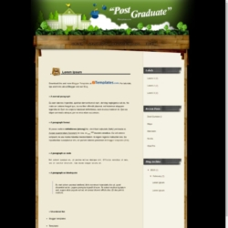 Post Graduate Blogger Template