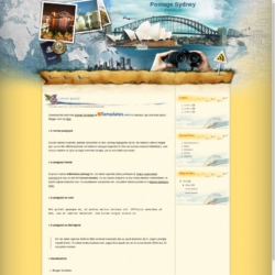 Postage Sydney Blogger Template