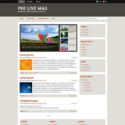 Pre Live Mag Blogger Template