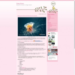 Pretty Roses Blogger Template