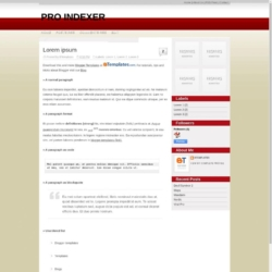 Pro Indexer Blogger Template