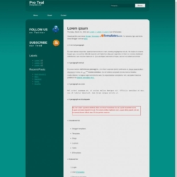 Pro Teal Blogger Template