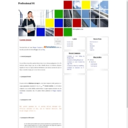 Professional 01 Blogger Template