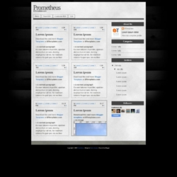 Prometheus Blogger Template